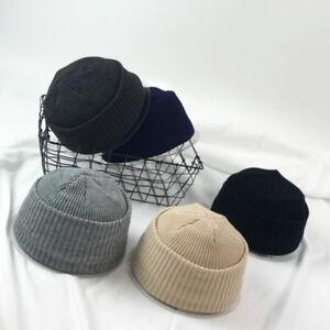 Men Lady Knitted Hats Beanie Skullcap Sailor Docker Fisherman Cuff ... cffba5fb813c