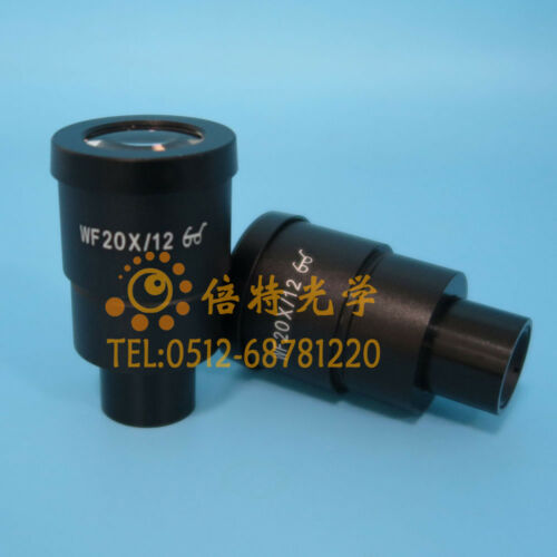 PAIR of WF 20X//12 30mm EYEPIECEs FOR NIKON OLYMPUS LEICA ZEISS STEREO microscope