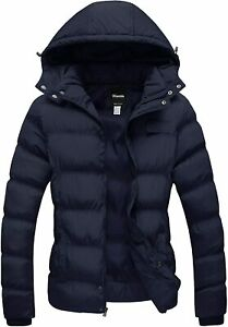 Wantdo Womens Winter Coat Warm Puffer Jacket Thicken Parka with Removable Hood