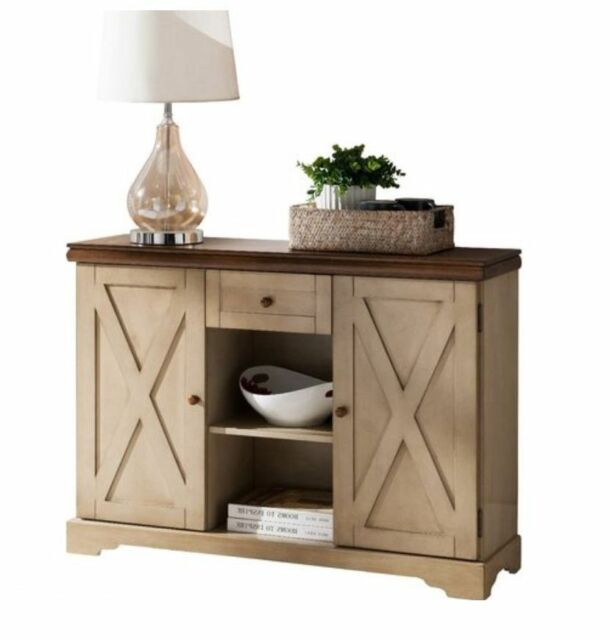 Small Sideboard Buffet Table Farmhouse Wood Server Kitchen Cabinet Furniture  NEW