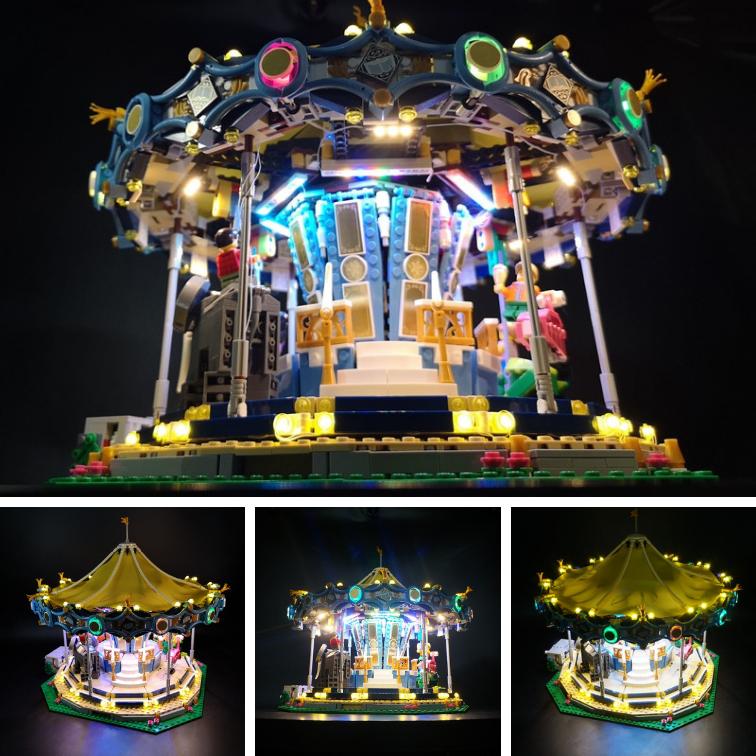Nouveau  Lumière DEL Kit pour lego creator voitureousel 10257 rue Series éclairage Blocs  2018 dernier
