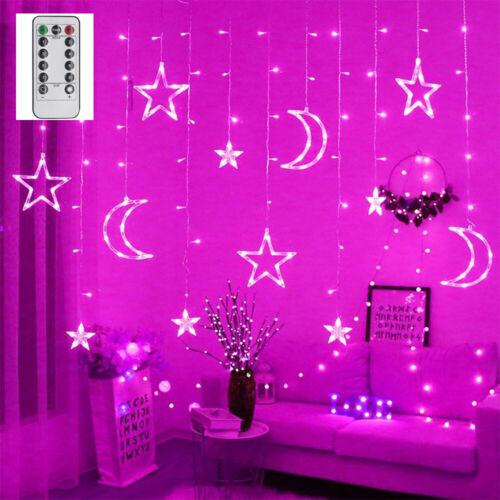 LED String Fairy Christmas Curtain Light Twinkle Star Window Wedding Party Decor