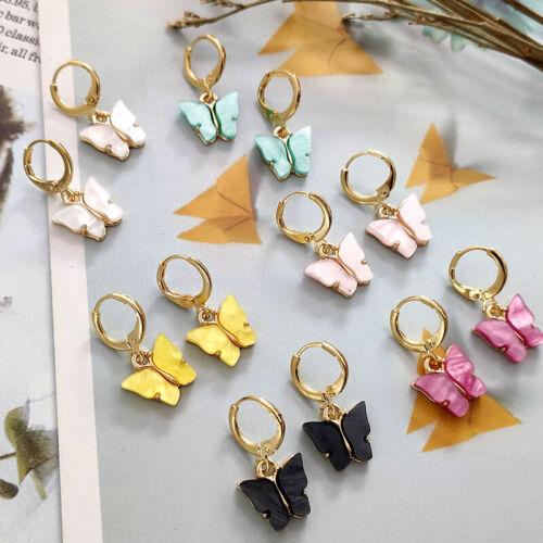 Charm Butterfly Acrylic Insect Earrings Women Boho Dangle Drop Cute Jewelry Gift