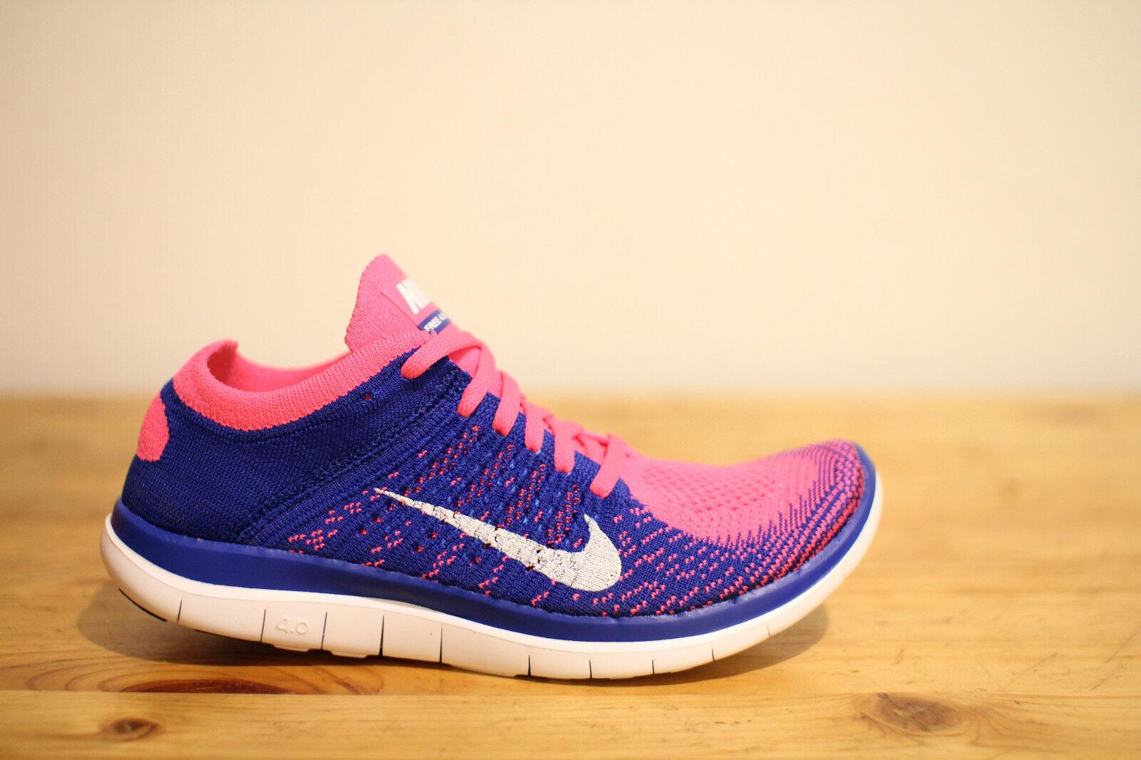 Nike Free 4.0 Flyknit Blau Pink Gr. 37,5 UK 4 NEU & OVP
