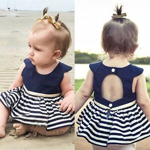 Newborn-Baby-Girls-Party-Princess-Pageant-Tutu-Dress-Kid-Toddler-Navy-Blue-Dress