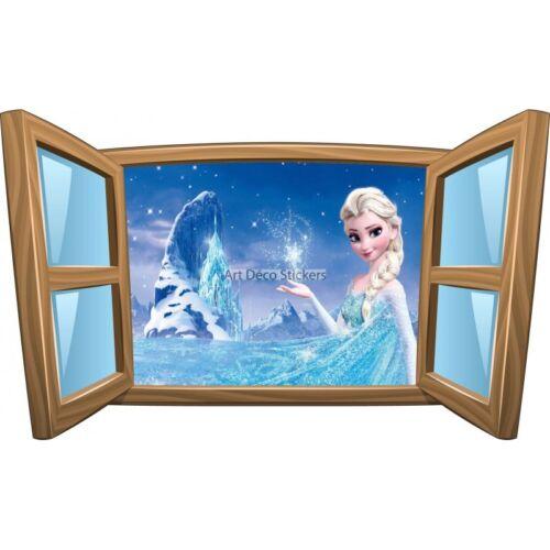 Sticker enfant fenêtre La Reine des Neiges réf 979 979