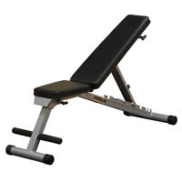 Body Solid Pfid125x Powerline Flat Folding Home Gym Workout Multi-bench Press on sale