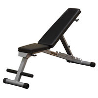 Body Solid Pfid125x Powerline Flat Folding Home Gym Workout Multi-bench Press