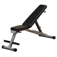 Body Solid Pfid125x Powerline Flat Folding Home Gym Workout Multi-bench Press