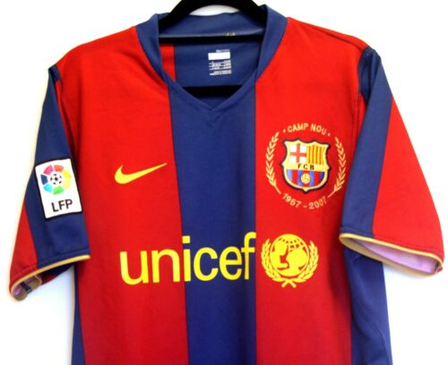 "Barcelona FC Shirt 20072008 Nike S Small 33"" 35"" 0708 football Trikot"