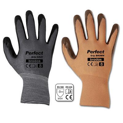 Arbeitshandschuhe Latexbeschichtung Gr.8-10 Schutzhandschuhe Latex Handschuhe