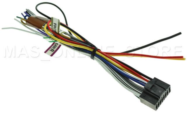 KENWOOD KDC-135 KDC135 GENUINE 16 PIN WIRE HARNESS *PAY TODAY SHIPS on kenwood kdc mp235, kenwood kdc-bt710hd, kenwood kdc 400u cd player, kenwood car audio dash unit, kenwood kdc mp205 wiring,