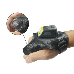 Wireless 1D 2D Bluetooth Ring Barcode Reader PS02 QR Code Scanner With Glove