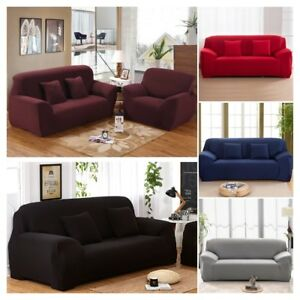 Details About 1 4 Seater Stretch Elastic Fabric Sofa Protector Couch Cover Slipcover Dustproof