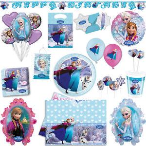 Die Eiskonigin Anna Elsa Frozen Kinder Geburtstag Party Deko Set