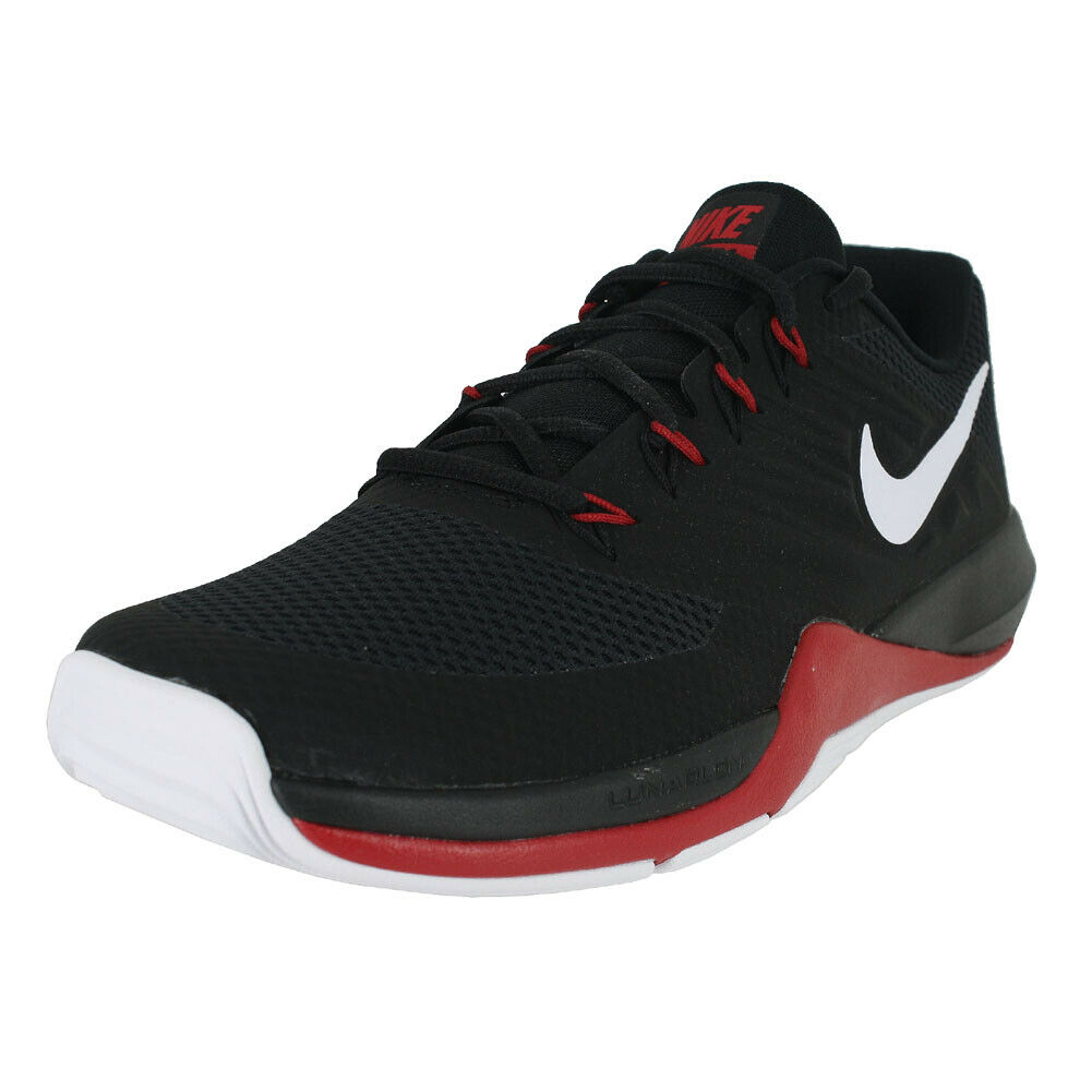 NIKE LUNAR PRIME IRON II BLACK WHITE GYM RED 908969 006 MENS US SIZES