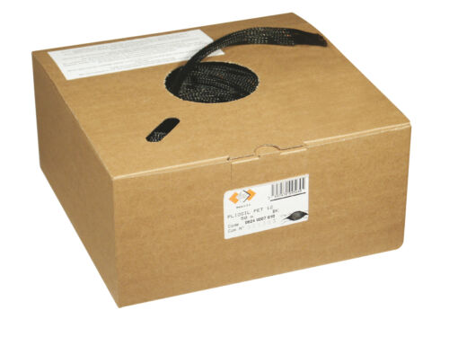 Black and Grey Braided  Expandable Sleeving Auto//Harnessing//Marine Bulk Boxes