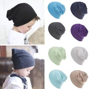 4eebcef6f1e Kids Baby Slouchy Hat Solid Soft Winter Warm Beanie Hats Toddlers ...