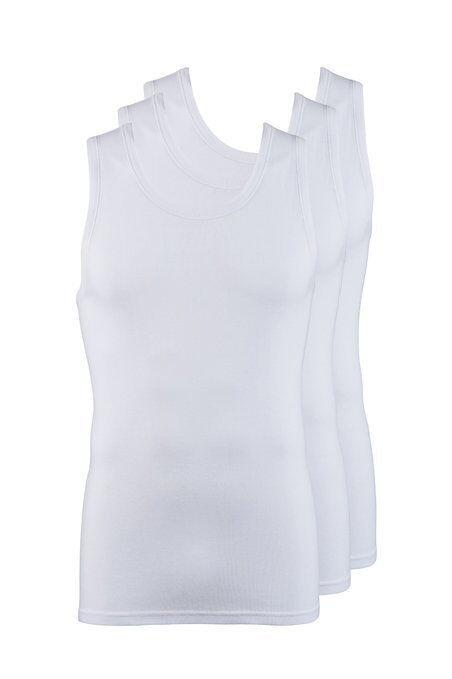 Jockey Jockey Jockey men's classic sous-vêtements gilet 3 pack en blanc rrp £ 20 * BNWT * gratuit uk post db0f2c