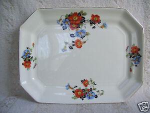 Antique-Square-Platter-Golden-Glo-Glow-American-Dinnerware-Pattern-Limoges