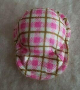 Schildcap-Pinkkariert-For-Miniature-Bears-Doll-Or-for-The-Hutladen-1-3-16in