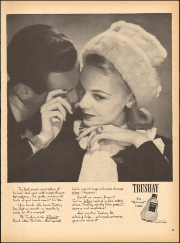 1946 Vintage ad for Trushay Loton 40's Fashion Photo 112616