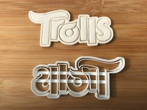 Trolls Logo Uk Seller Plastic Biscuit Cookie Cutter Fondant Cake Decorating Ebay
