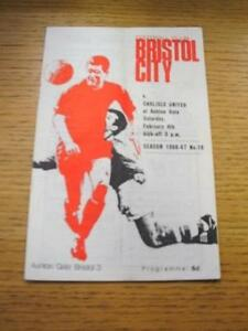 04021967 Bristol City v Carlisle United  Folded No obvious faults unless d - <span itemprop='availableAtOrFrom'>Birmingham, United Kingdom</span> - Returns accepted within 30 days after the item is delivered, if goods not as described. Buyer assumes responibilty for return proof of postage and costs. Most purchases from business s - <span itemprop='availableAtOrFrom'>Birmingham, United Kingdom</span>