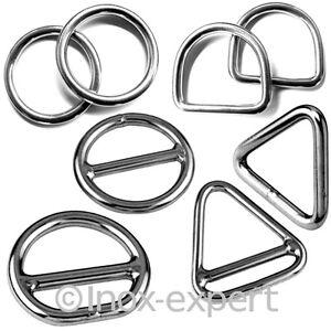 Ringe-Triangel-D-Ring-Edelstahl-VA-Rostfrei-Edelstahlringe-Dreieck-Ose-Nirosta