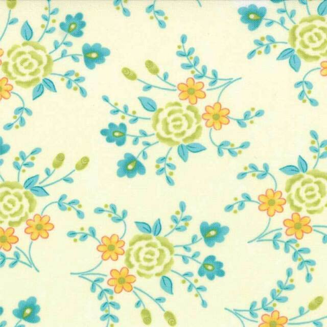Chance of Flowers Priced Per ½ Yard Ivory 17763-21 Moda 100% Cotton