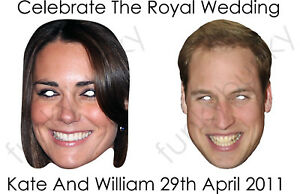 The-Royal-Wedding-Masks-Kate-Middleton-amp-Prince-William-All-Masks-Are-Pre-Cut