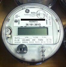 Ge General Electric Watthour Meter Kwh Kv Kv2c Fm9s 13 Lug 4w 120 480v