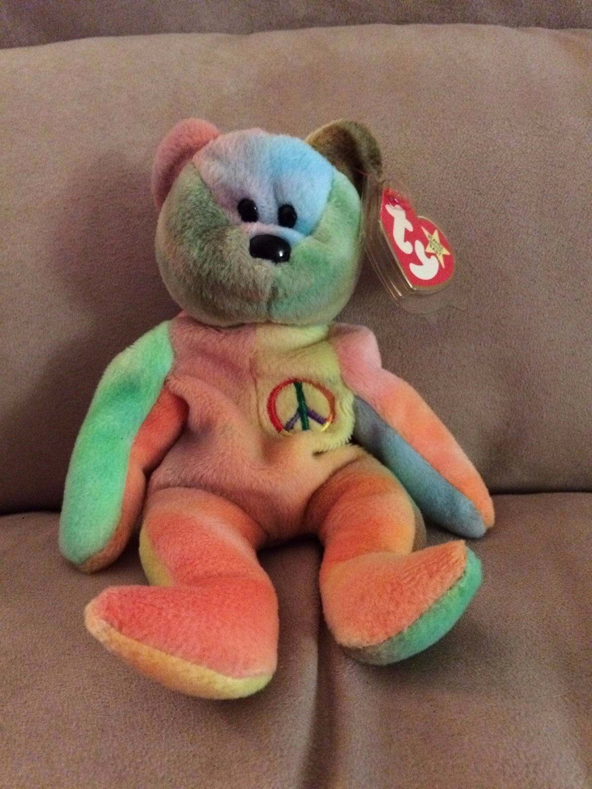 Rare - Peace ty beanie baby with errors