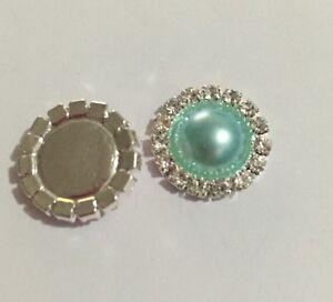5-X-Acrylic-Diamante-Flat-Back-Buttons-Australian-Supplier