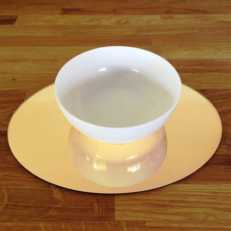 Ovale Ensemble de Set de table - Miroir doré