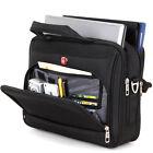 """Men's Shoulder Bag 14"""" Laptop Business Briefcase Messenger Bag Black Handbag"""