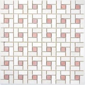 Marmor-Mosaik-Rad-Stein-cremarfil-pink-rose-Rueckwand-Fliesenspiegel-WB88-B27
