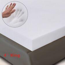 """4"""" King Size Memory Foam Mattress Pad, Bed Topper 80""""x76""""x4"""" New"""