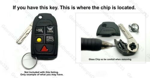 No Chips New Volvo Aftermarket Key w// Chip Holder Fits S60 S80 XC70 XC90 V70
