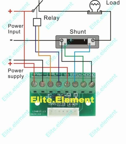 Battery Monitor Prevent Over Charge//discharge 0-1000A 0-90V for Car Solar Wind