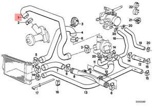 bmw e28 engine diagram genuine bmw e28 e30 e34 cabrio cooling system water hose oem  genuine bmw e28 e30 e34 cabrio cooling