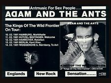 """Adam and the Ants German 16"""" x 12"""" Photo Repro Concert Poster"""