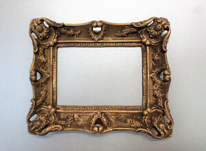 Rectangular-Mini-Decor-Picture-Frame-Brown-Gold-Patina-Classic-Style-Gothic