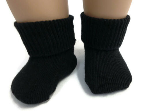 "Black Knit Sport Socks made for 18/"" American Girl Doll Clothes"