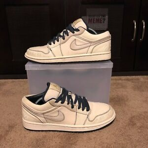 8fad2af993f Air Jordan 1 Phat Low Jeter Canvas 395669-102 Size 10 USED | eBay