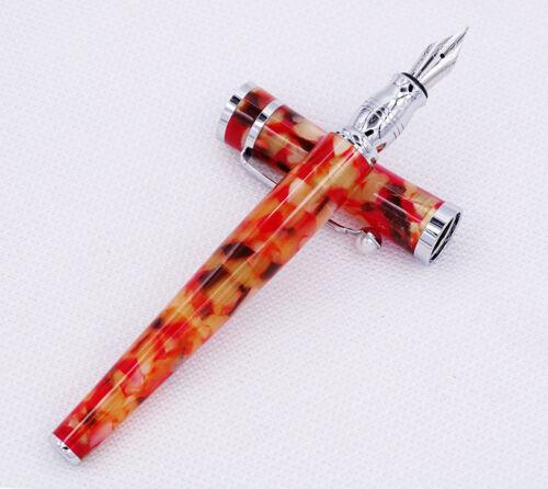 Beautiful Maple Leaf Pattern Acrylic Gift Pen Fuliwen Fine Nib Fountain Pen