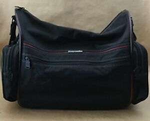 Vintage-Samsonite-Black-Canvas-Travel-Carry-On-Duffle-Bag-Luggage
