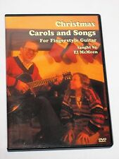 Christmas Carols & Songs for Fingerstyle Guitar El McMeen DVD NEAR MINT
