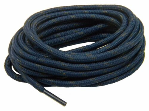 Heavy Duty Navy w//Black Kevlar reinforced boot laces shoelaces 2 pair pack