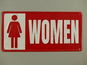 9977755-x Retro Vintage Tin Sign Wc Toilet Woman 30x15cm